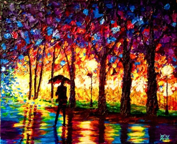 Gözleri Görmeyen Ressamın Elinde Hayat Bulan Renkler