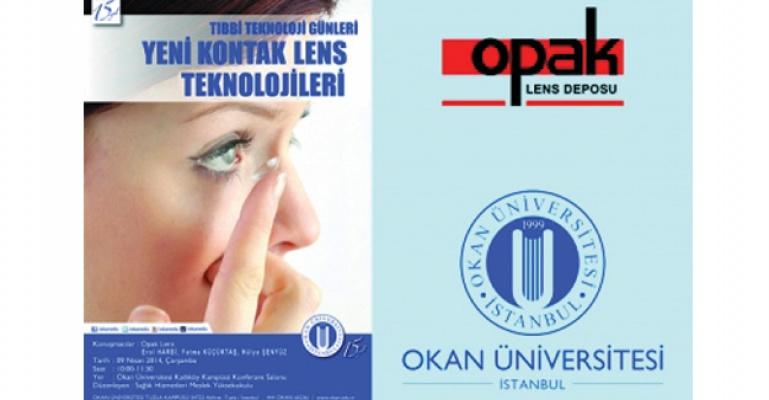 Opak Lens Okan Üniversitesi'nde