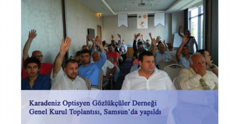 Karadeniz Optisyen Gözlükçüler Derneği genel kurul toplantısı Samsun'da yapıldı