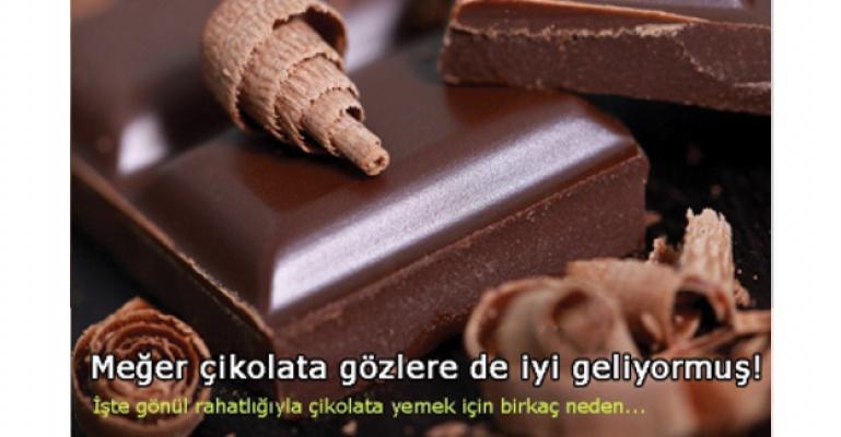 Meğer bitter çikolata gözlere de faydalıymış!