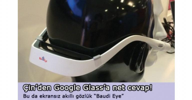 Bu da ekransız akıllı gözlük Baidu Eye!