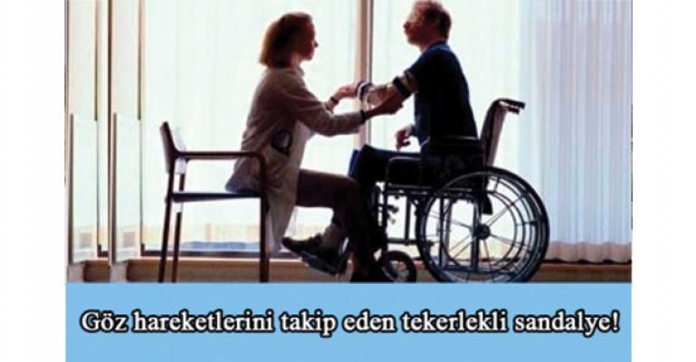 Bu tekerlekli sandalye, göz komutuyla çalışıyor!