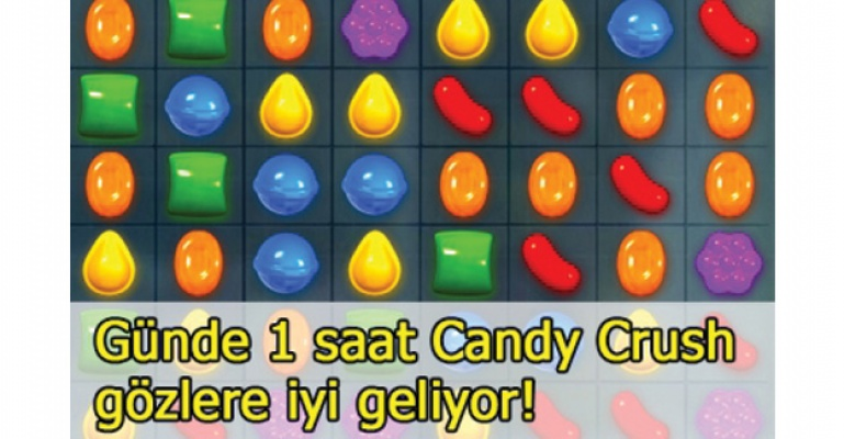 Candy Crush ve Tetris göze iyi geliyor!