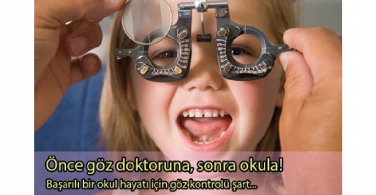 Çocukken yapılan göz sağlığı kontrolü, tüm hayat başarısını etkiliyor!