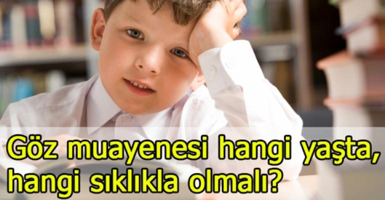 Çocuklarda göz muayenesi hangi sıklıkta olmalı?