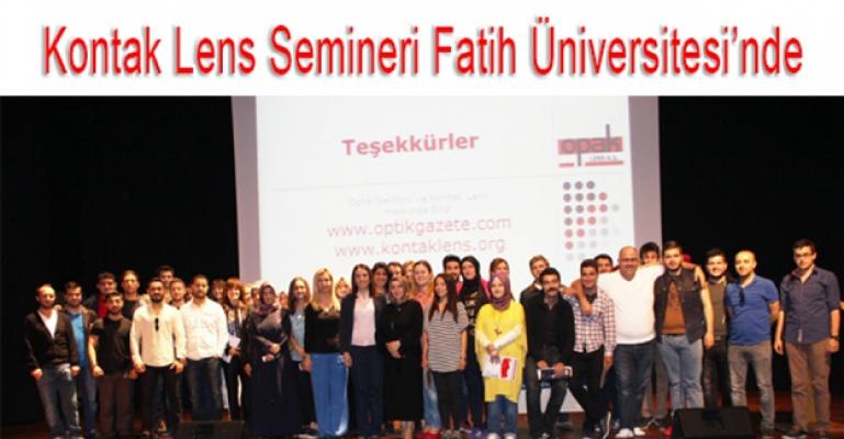 Opak Lens Bu Kez de Fatih Üniversitesi'nde
