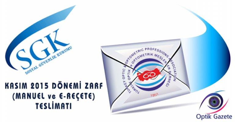 SGK Kasım 2015 Dönemi Zarf Teslimatı!
