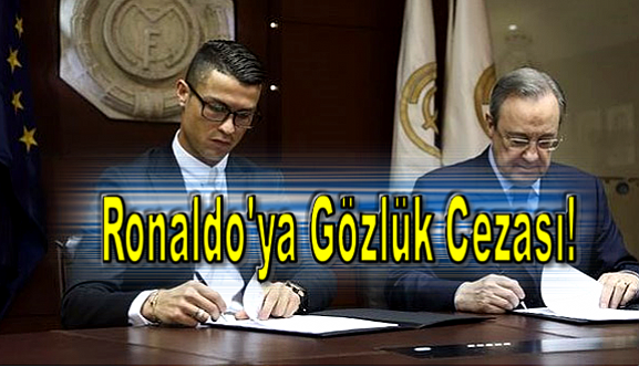Ronaldo'ya gözlük cezası!
