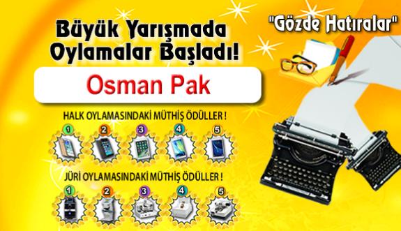 """Gözde Hatıralar """"Osman Pak"""""""