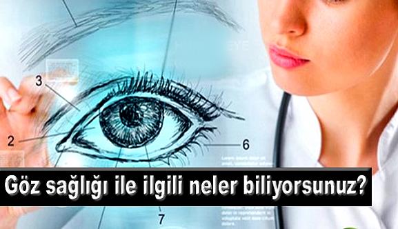 Göz sağlığı ile ilgili neler biliyorsunuz?
