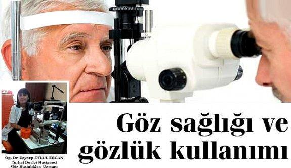 Göz sağlığı ve gözlük kullanımı