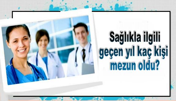 Tıp, diş hekimliği, eczacılık, hemşirelik... Sağlıkla ilgili bölümlerden geçen yıl kaç kişi mezun oldu?