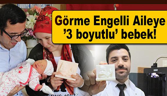 Görme Engelli Çifte '3 boyutlu' bebek!