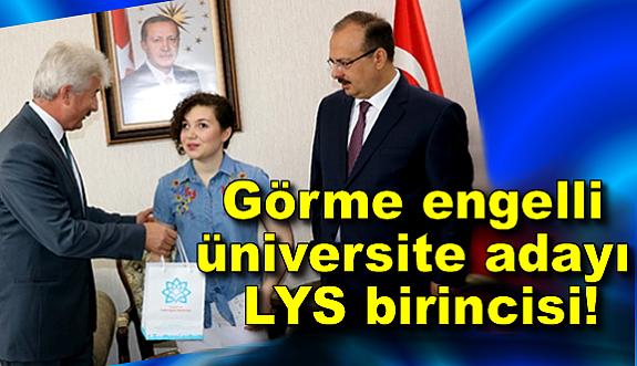 LYS Türkiye birincisi görme engelli öğrenci oldu!