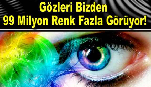 Normal Bir İnsandan 99 Milyon Daha Fazla Renk Gören Mutant Kadın!