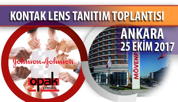 Kontak Lens Tanıtım Toplantısı Bugün Ankara'da