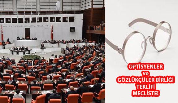 Türk Optisyen-Gözlükçüler Birliği'nin Usul ve Esaslarını Düzenleyen Teklif Meclis'te