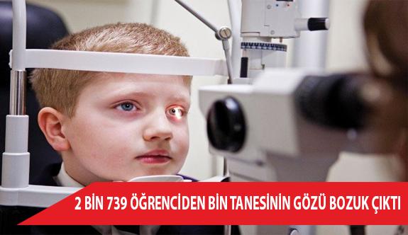 2 Bin 739 Öğrenciden Bin Tanesinin Gözü Bozuk Çıktı