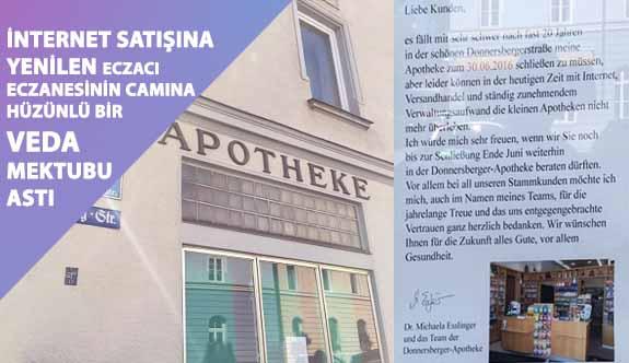 Almanya'da İnternet Satışına Yenik Düşen Bir Eczacı Eczanesinin Camına Hüzünlü Bir Veda Mektubu Astı