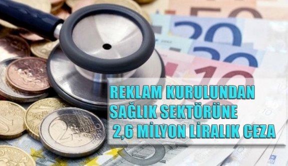 Reklamlardan sağlık sektörüne 2,6 milyon liralık ceza!