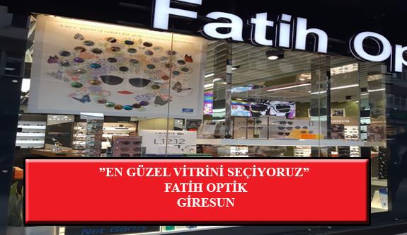 """""""En Güzel Vitrini Seçiyoruz"""" Yarışması: Fatih Optik- Giresun"""