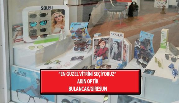 """""""En Güzel Vitrini Seçiyoruz"""" Yarışması: Akın Optik-Bulancak /Giresun"""