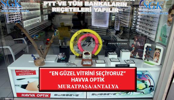"""""""En Güzel Vitrini Seçiyoruz"""" Yarışması: Havva Optik-Muratpaşa /Antalya"""