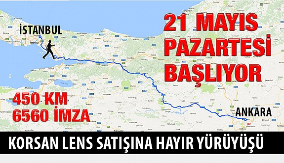 """Erol Harbi """"Korsan Lens Satışına Hayır"""" Yürüyüşüne Pazartesi Başlıyor!"""