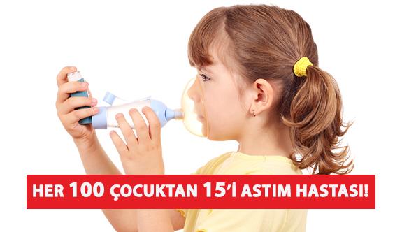 Her 100 Çocuktan 15'i Astım Hastası!