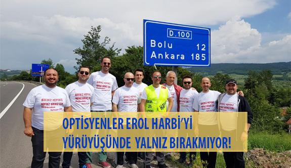 Optisyenler ' Korsan Lens Satışına Hayır' Yürüyüşünde Erol Harbi'yi Yalnız Bırakmıyor!