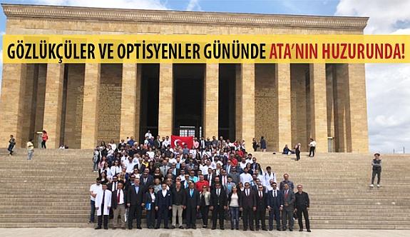1 Haziran Gözlükçüler ve Optisyenler Gününde Ata'nın Huzurunda!