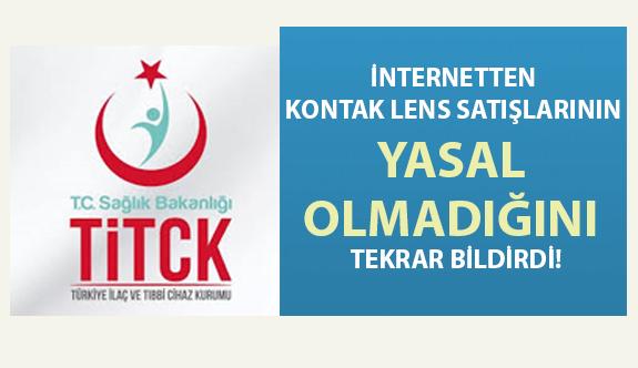 81 İlin Sağlık Müdürlüğü'ne Gönderilen Yazı ile İnternetten Kontak Lens Satışının Yasal Olmadığı Bildirildi!