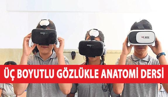 Üç Boyutlu Gözlükle Anatomi Dersi