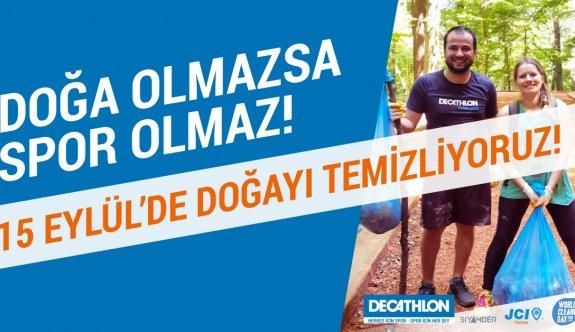 Decathlon 15 Eylül Dünya Temizlik Günü'nde Herkesi Doğayı Temizlemeye Davet Ediyor!