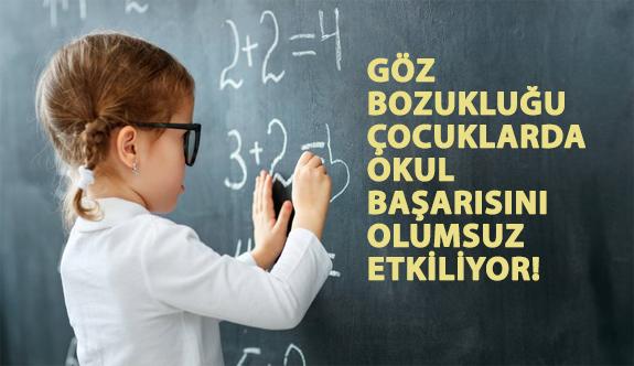 Göz Bozukluğu Çocuklarda Okul Başarısını Olumsuz Etkiliyor!