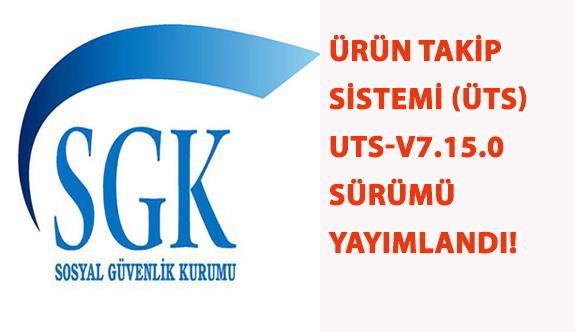 Ürün Takip Sistemi (ÜTS) UTS-v7.15.0 Sürümü Yayımlandı!