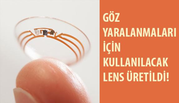 Göz Yaralanmaları İçin Kullanılacak Lens Üretildi!