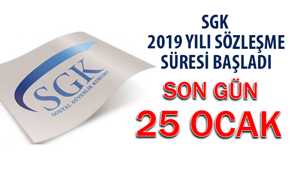 SGK Optik Sözleşmeleri İçin Son Gün 25 Ocak