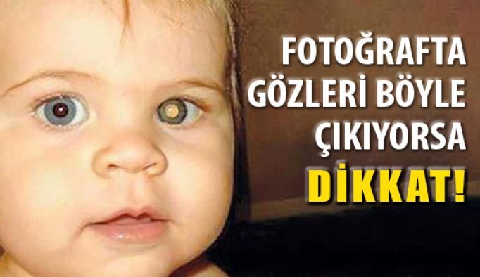 Fotoğraflarda Çocukların Göz Bebeğine Dikkat!