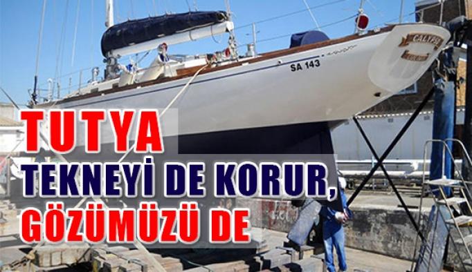 Tekneyi de korur, gözümüzü de: Tutya
