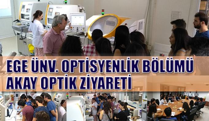 Ege Üniversitesi Öğrencileri Akay Optik Üretim Tesislerini Ziyaret Etti