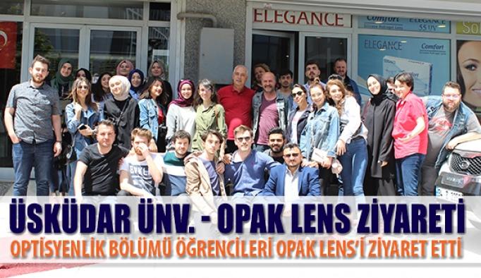 Üsküdar Üniversitesi Öğrencileri Opak Lens'i Ziyaret Etti