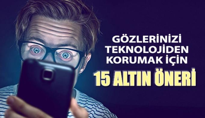 Gözlerinizi Teknolojiden Korumanın 15 Yolu