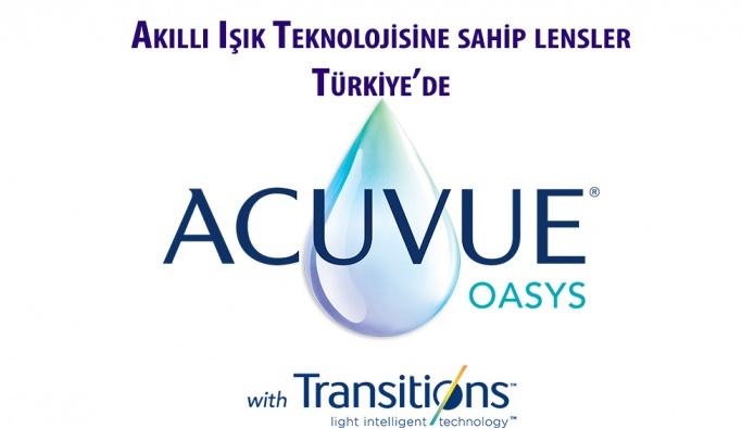 Acuvue Oasys with Transitions lensleri artık Türkiye'de