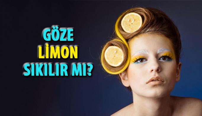 Göze Limon Sıkılır Mı?