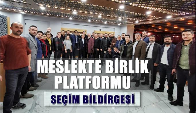 Meslekte Birlik Platformu Seçim Bildirgesi
