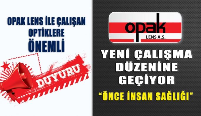 Opak Lens COVID-19 Önlemlerini Açıkladı
