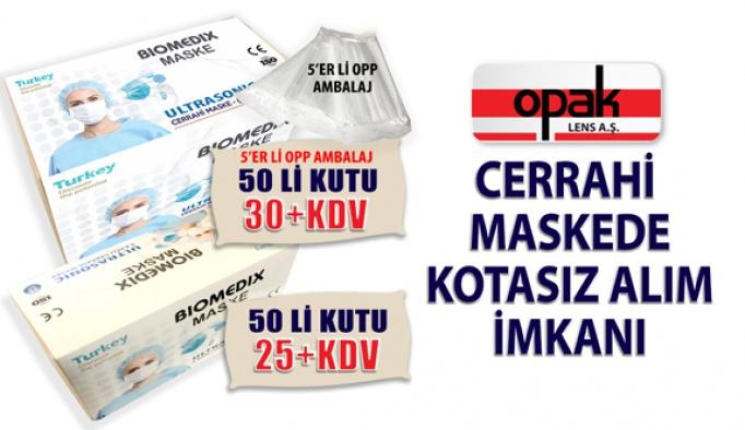 Opak Lens'ten Ultrasonic Cerrahi Maskede Kotasız Alım İmkânı