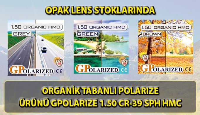 ORGANİK TABANLI POLARIZE ÜRÜNÜ GPOLARIZE 1.50 CR-39 SPH HMC OPAK LENS STOKLARINDA