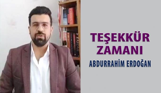 Abdurrahim Erdoğan Teşekkür Konuşması